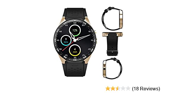 Amazon.com: 3G Smart Watch, Android 5.1 OS, Quad Core support 2.0MP Camera Bluetooth SIM Card WiFi GPS Heart Rate Monitor (Black+Gold): Cell Phones & ...