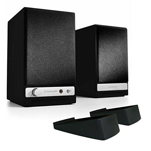 Audioengine HD3 Wireless Powered Speakers with DS1 Desktop Speaker Stands (Satin Black)