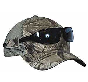 KC Caps Men's Adjustable Camo Hunting Hat with Non-slip Side Sunglasses Holder