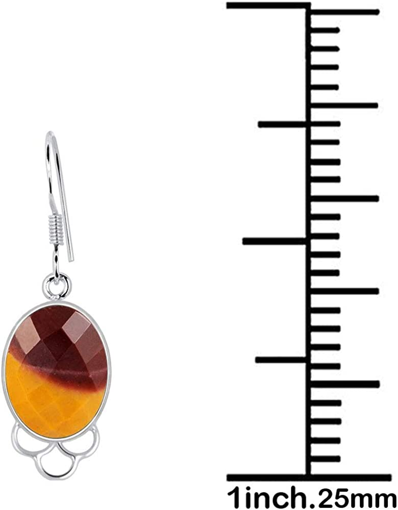 Mookaite Jasper Jewelry By Orchid Jewelry : Hypoallergenic Dangle Earrings For Sensitive Ears Sterling Silver Bridal Dangling Earring   14.6 Ctw Nickel Free Wedding Earrings