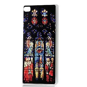 BestCool 1 X Rígida Funda Case para Huawei Ascend P8 5.2 pulgada Carcasa Cover Transparente de PC Cubierta Dura Pintado Sala de Dioses Diseño de la Plástico Caja