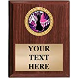 5x7 Walnut Finish Belly Dancing Plaques - Customized Dance Plaque Awards