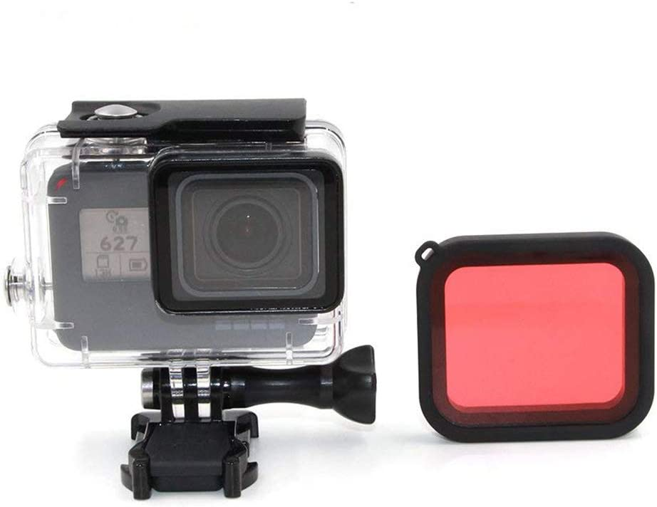 PATALACHI Waterproof Housing Case with Red Filter for GoPro Hero7 6 5 Black/Hero Protection Diving Shell 45m Protective Dive Case Cover Underwater Accessories with Bracket