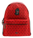 COACH MICKEY Charles Backpack in Prairie Bandana Print Bright Red