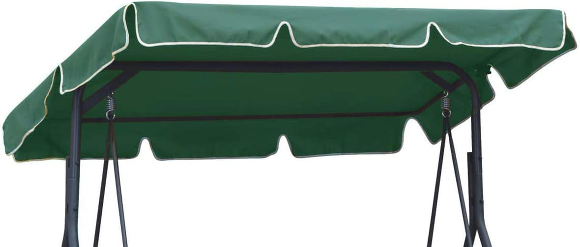101 Ferocity Universal coloured replacement canopy for Swing Cover Patio Hammock Cover Top Garden Outdoor size 210 x 145 cm graphite