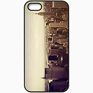 Protective Case Back Cover For iPhone 5 5S Case New York Skyscrapers Black