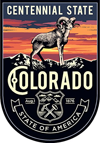 State animal Colorado night 4x5.5 inches sticker decal die cut vinyl - Made and Shipped in USA
