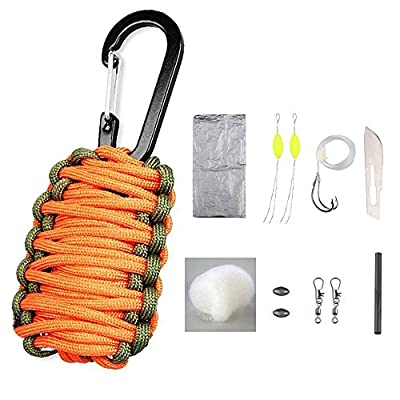 Sahara Sailor Carabiner Paracord Grenade Survival Kit W 8 Life-Saving Tools / 30 Tools from Sahara Sailor