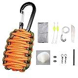 Sahara Sailor Carabiner Paracord Grenade Survival Kit W 8 Life-Saving Tools