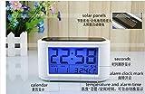 Solar LED Digital Alarm Clock Touch Sensing with Backlight Eco-friendly Calendar Frozen Home Decor