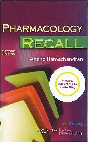 Kết quả hình ảnh cho Pharmacology Recall – 2nd edition amazon