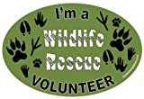 I'm a Wildlife Rescue Volunteer oval magnet