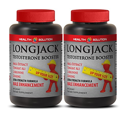 Natural male enchantment pills increase size and length - LONGJACK SIZE UP (ALL NATURAL FORMULA) - Tongkat ali extract - 2 Bottles 120 Capsules by Health Solution Prime