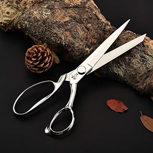 Qusja 10 Inch Senior Stainless Steel Professional Tailor Scissors Leather Sewing Clothing Scissors Sewing Shears Tools. Very Sharp !!!