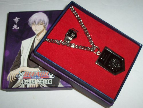 bleach-gin-ichimaru-squad-three-kanji-patch-pendant-with-chain-and-ring-anime-cosplay-jewelry-with-b