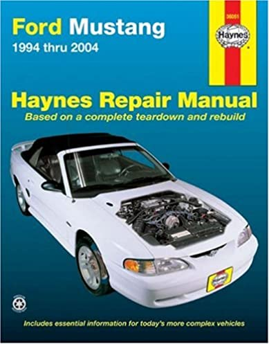 ford mustang 1994 2004 hayne s automotive repair manual haynes rh amazon com Mustang Restoration Manual 2011 Ford Mustang Manual
