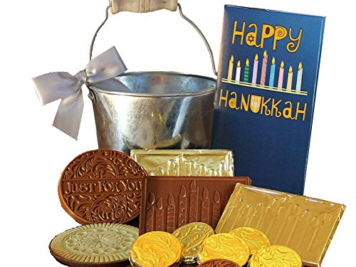 Belgian Chocolate Hanukkah Gift Filled Pail