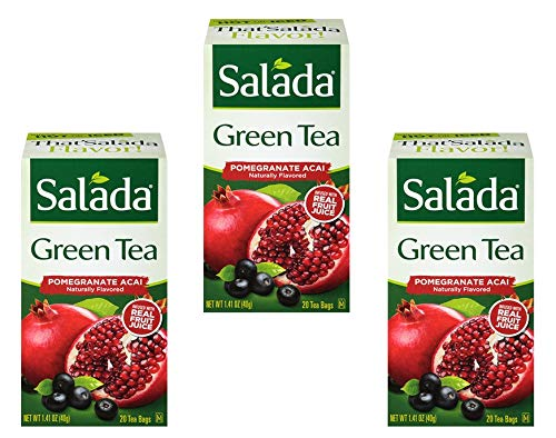(Salada Green Tea Infused with Fruit Juice (Pomegranate Acai, 20 Tea Bags (Pack of 3) - 60 Bags Total))