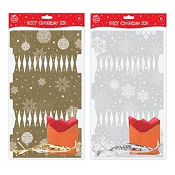 Amazon make your own diy christmas crackers silver or gold to make your own diy christmas crackers silver or gold to personalise xmas solutioingenieria Choice Image