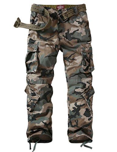 Match Men's Wild Cargo Pants(42,Grayish green max) (Black Army Pants)