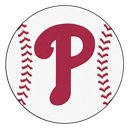 FANMATS MLB Philadelphia Phillies Nylon Face Baseball Rug