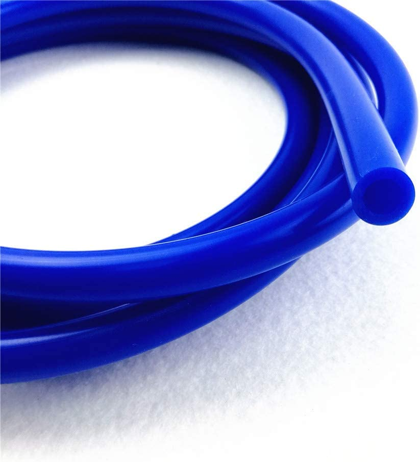 Red 0.31 inch 8mm Inner Diameter Silicone Vacuum Hose by Foot