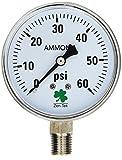 Zenport APG60 Zen-Tek Ammonia Gas Pressure Gauge, 60 PSI