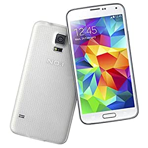 """docooler® No.1 S7+ Smart Phone Android 4.3 MTK6592 Octa Core 5"""" Screen OTG Air Gesture 1GB RAM 8GB ROM 2MP 8MP Dual Cameras White"""