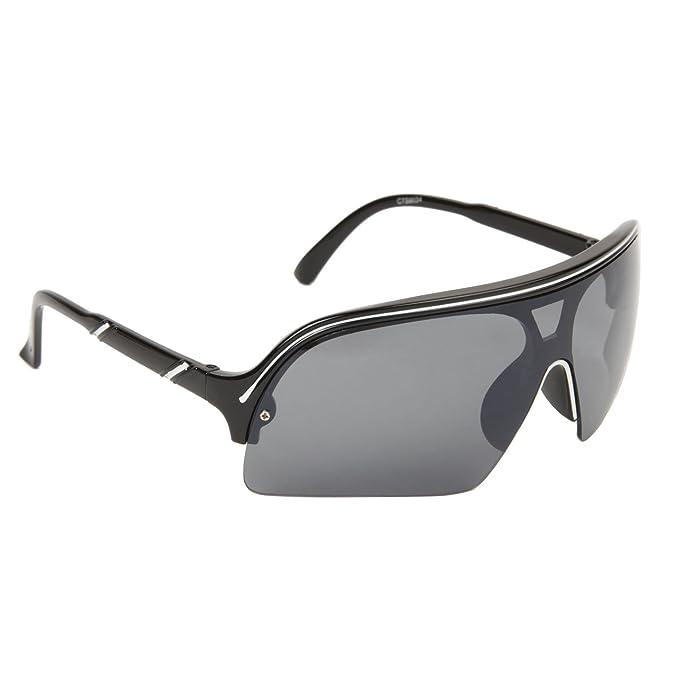 Amazon.com: FancyG Sleek and Sporty Style Single Piece Lens ...