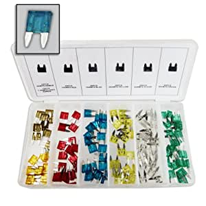 120 piece mini auto blade fuse shop assortment 6 sizes. Black Bedroom Furniture Sets. Home Design Ideas