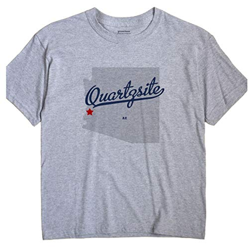 GreatCitees Quartzsite Arizona AZ MAP Unisex Souvenir T Shirt
