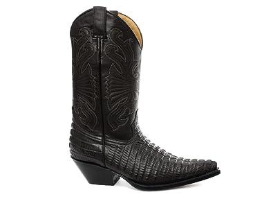 grossiste 2f93d 1876d Grinders Carolina Homme Western Cowboy Bottes, Noir: Amazon ...