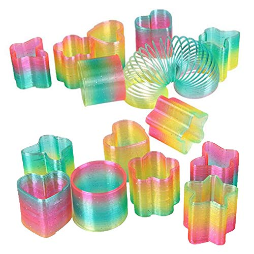 Liberty Imports Mini Rainbow Magic Springs Multishape Assortment Bulk Party Favors (Set of 24) (2 Inches)