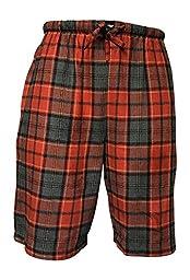 American Active 24/7 Basics Men\'s 3 Pack Cotton Soft Sleep Lounge Pant Jam Cargo Shorts (XL, 3 Pack - Plaid Assortment)