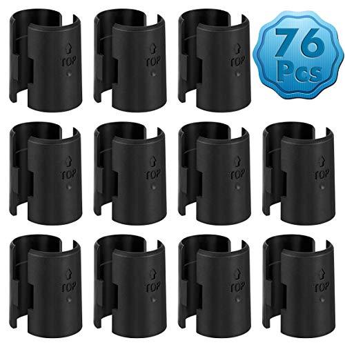 (Cridoz 38 Pairs 76 Pack Wire Shelving Shelf Lock Clips Shelving Split Sleeves Wire Shelving Replacements for 1