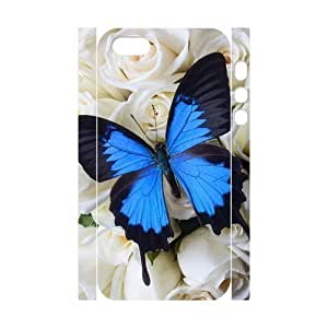 3D Bumper Plastic Customized Case Of Butterfly for iPhone 5,5S by ruishername