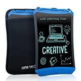 Product Name: LCD Robot Writing Tablet Product Size: 8.7 x 5.7 x 0.18 (Inches) Screen Size: 6.9 x 5.1 Inches( a little bigger than Ipad Mini) Weight: 3.9 ounces Input voltage: 3V Rated power:18mw Features: LCD Robot Writing Tablet is the upgrade vers...