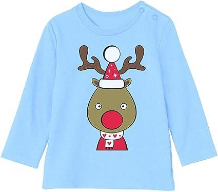 Camiseta bebé Unisex Manga Larga - Ropa Navidad Bebe - Reno ...