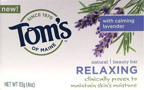 Tom's of Maine - Relaxing Beauty Bar Soap - Lavender, 4 oz bar by Tom's Of Maine by Tom's of Maine