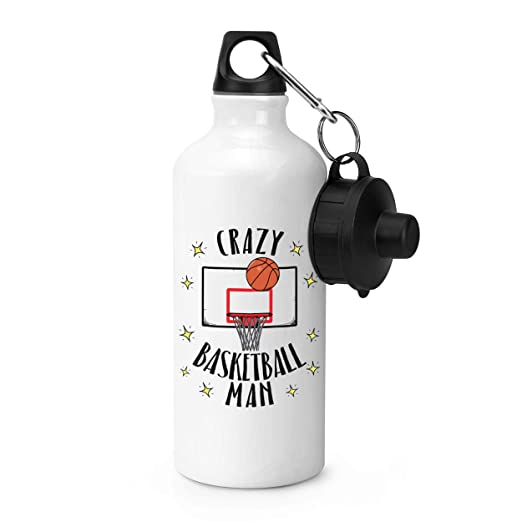 Gift Base Crazy Baloncesto Hombre Sports Botella Agua Gimnasio ...