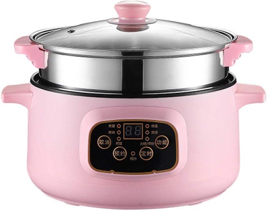Robot de arroz multifunción Slow Cooker con protección automática de apagado y arroz doméstico con olla caliente y cocción al vapor, 26 cm -PinkSmartEdition: Amazon.es: Hogar