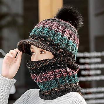 MAOCAP Sombrero Mujer Invierno Salvaje Dulce Lindo más Terciopelo Orejeras  cálido Sombrero Ciclismo frío un Sombrero de Punto be2c9030626