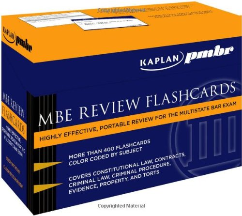 Mbe Review Flash Cards - Kaplan PMBR: MBE Review Flashcards