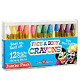(US) Dress Up America 12 Color Face Paint Safe & Non-Toxic Face and Body Crayons
