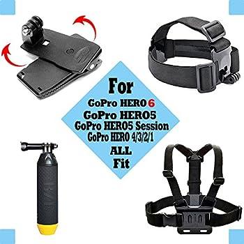 Black Pro Basic Common Outdoor Sports Kit For Gopro Hero 6gopro Fusionhero 5session543+321 Sj400050006000akasoapemandbpowerand Sony Sports Dv & More 1