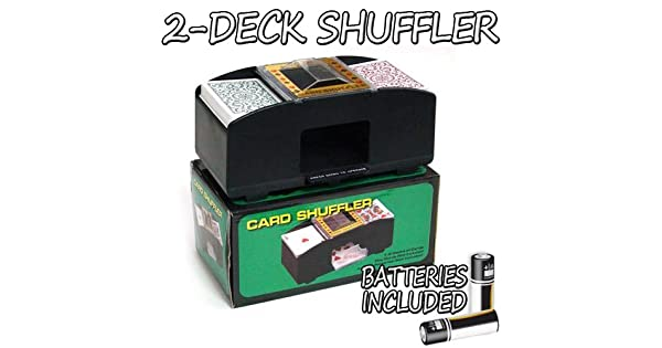 Amazon.com: 2 Deck Playing Card Shuffler – gratis Baterías ...