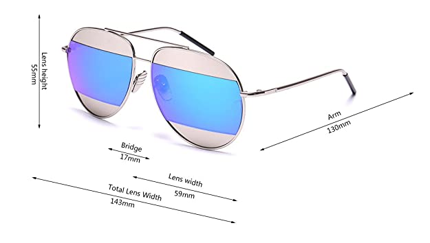 1b6f45a100 Amazon.com  GAMT Mirrored Aviator Sunglasses Fashion Designer Colorful Lens  for Men and Women Silver Frame Blue  Shoes