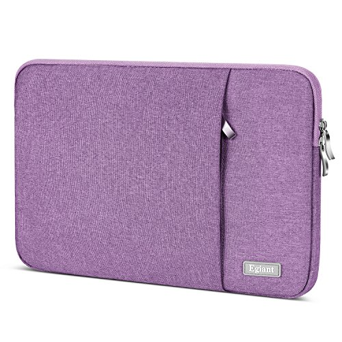 Laptop Sleeve 15.6 Inch,Egiant Water-repellent Protective Fabric Notebook Bag Case Compatible F555LA MB168B,Aspire E15, Chromebook 15,Inspiron 15.6, 15.6 Inch Pavilion,Computer Carrying Case,Purple