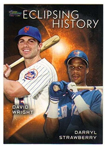 Strawberry Wright - 2015 Topps Eclipsing History #EH-10 Darryl Strawberry/David Wright Mets Baseball Card NM-MT