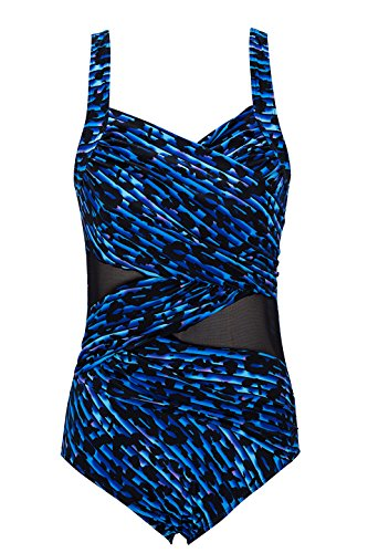 URqvick One Piece V Neck Bathing Suit Swimwear Monokini Swimsuits For Women Plus Size